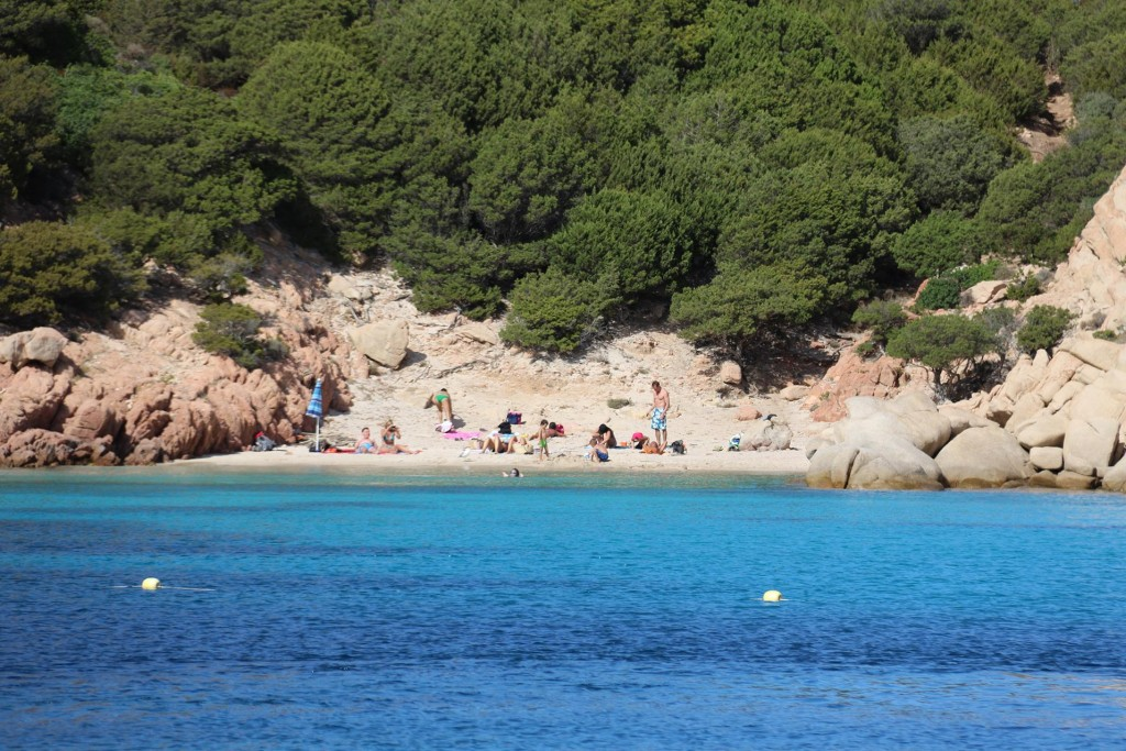One of the beaches is already full of families with children enoying the lovely weather