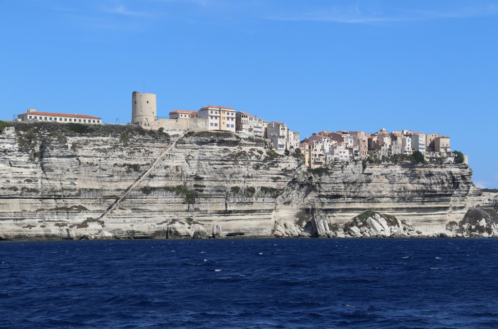 A wonderful sight again seeing the old town of Bonifacio perched on the high cliffs over the sea