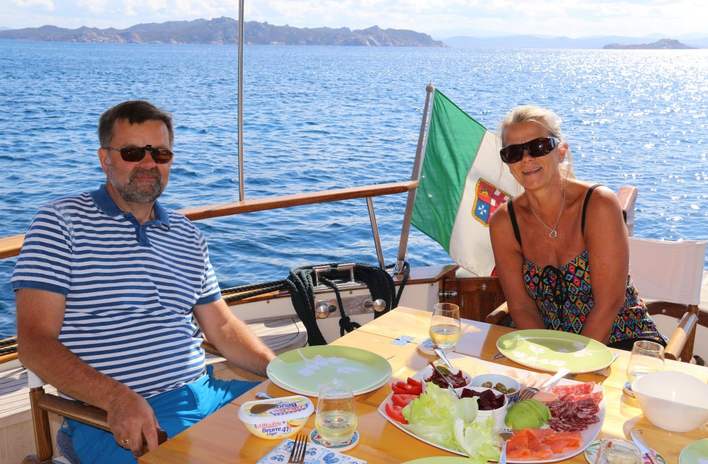Lunch in a lovely bay on Budelli Island, part of the La Maddalena Island Group