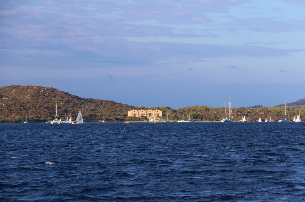 We pass Porto Palma where we have previously stayed, on our way to our favourite bay, Cala Coticcio for the night