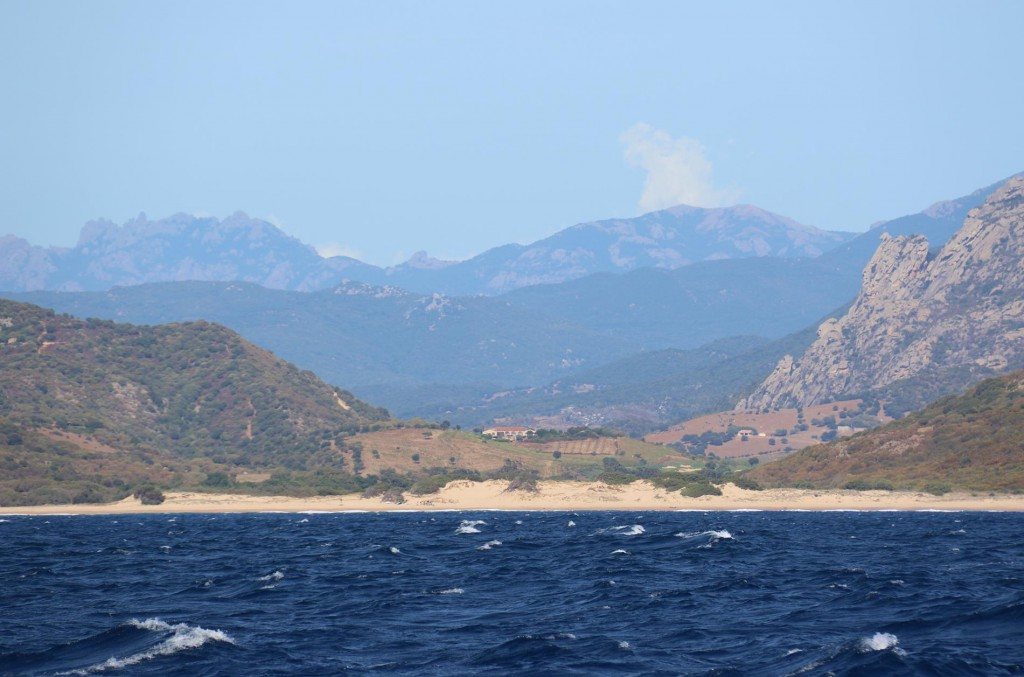 On the south west coast of Corsica there are some lovely beaches such as Roccapina, which we would have been happy to visit if the wind had not been so strong