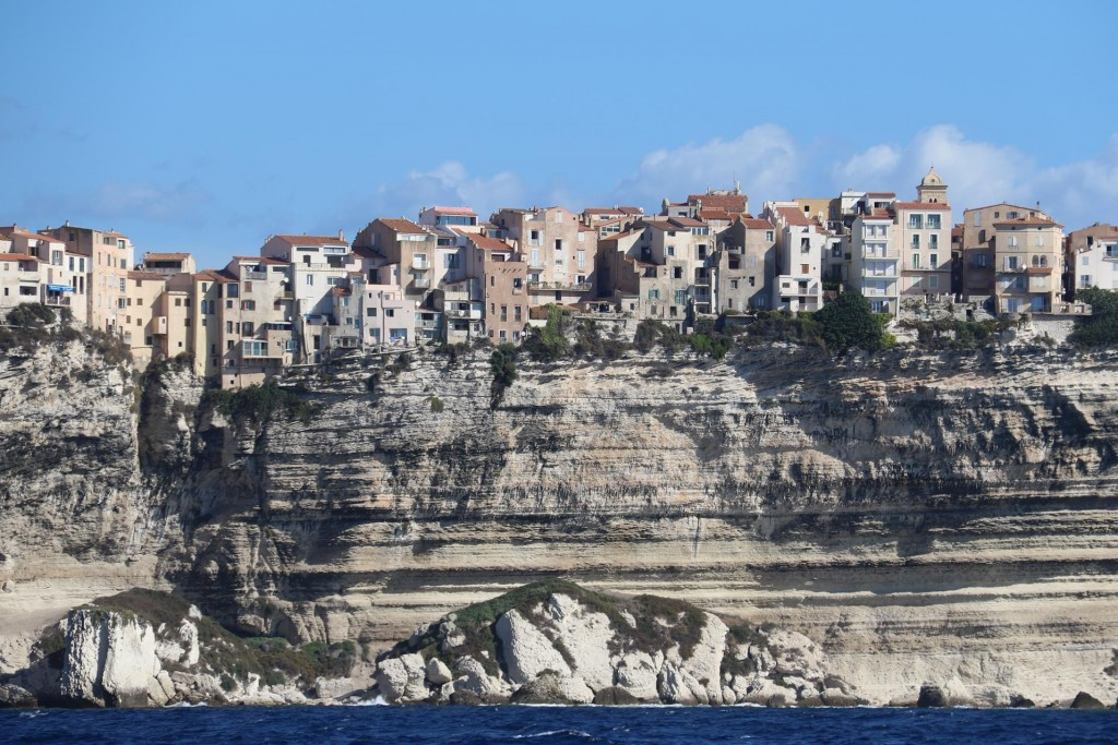 The houses perched so close to the edge make an amazing, yet frightening sight