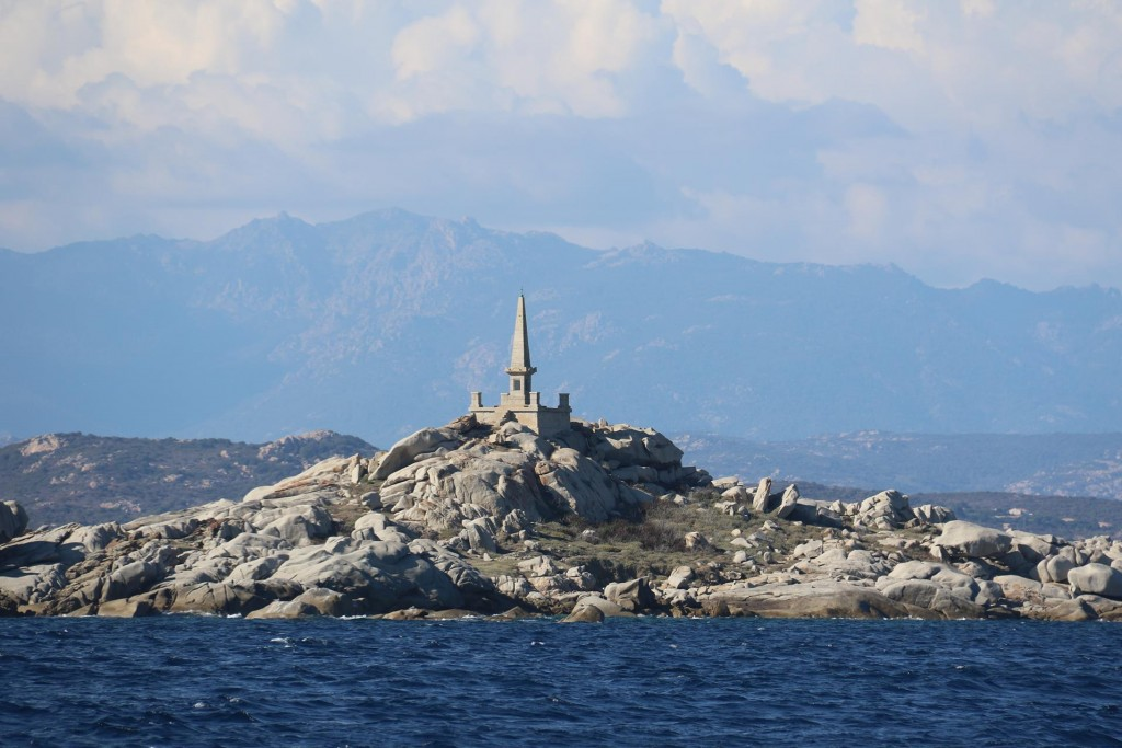 Lavezzi Island has some good anchorages and this amazing looking monument