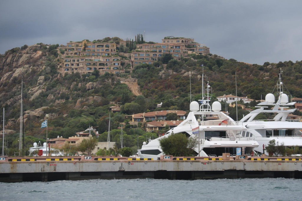 We leave Porto Cervo and will return next year to see the port when there is more action