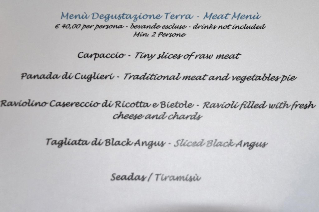 Hans and Ric chose the meat degustation menu