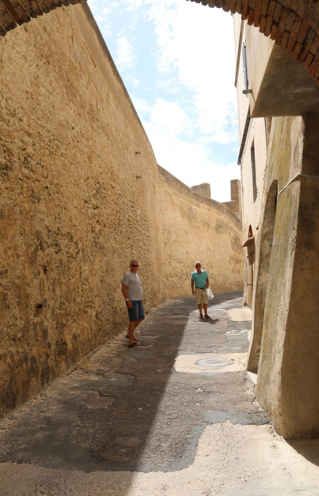 We head up to the Bastion de l'etendard, the fortress overlooking the port