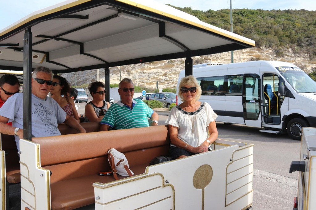 We conveniently caught the small tourist train to take us up to the old walled town