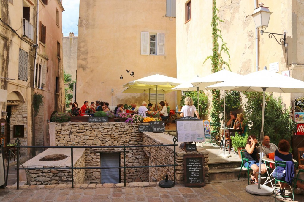 So many wonderful eateries in the old town of Bonifacio