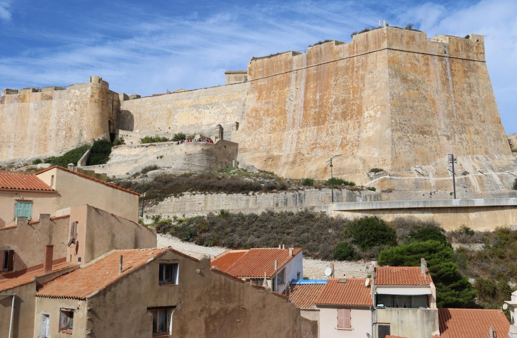 We approach the large fortress that overlooks the port