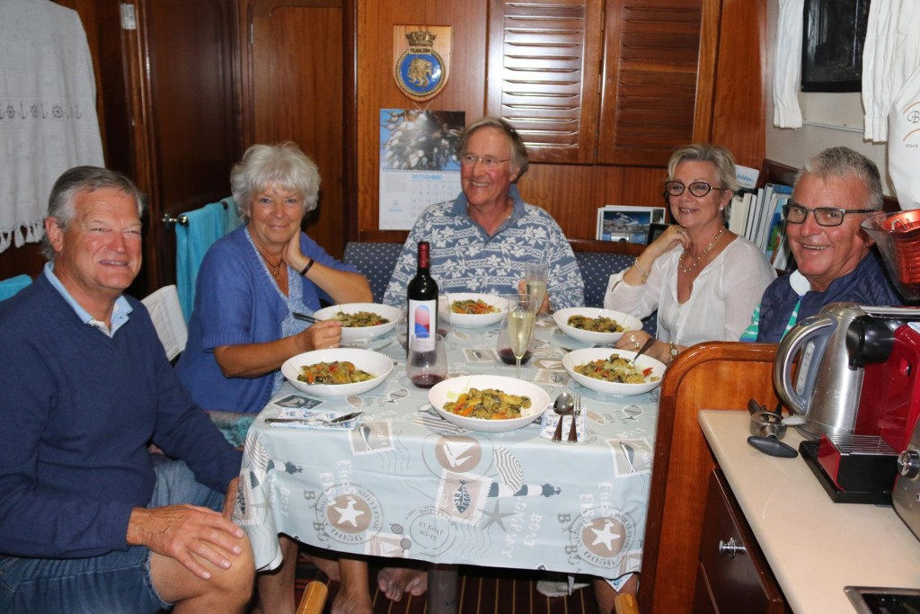 Paul and Marianne stayed and helped us consume the large chicken and veggie curry Ric had made earlier