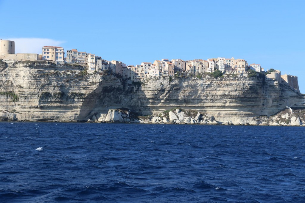 The old town of Bonifacio erected on the 60m high awesome limestone cliffs