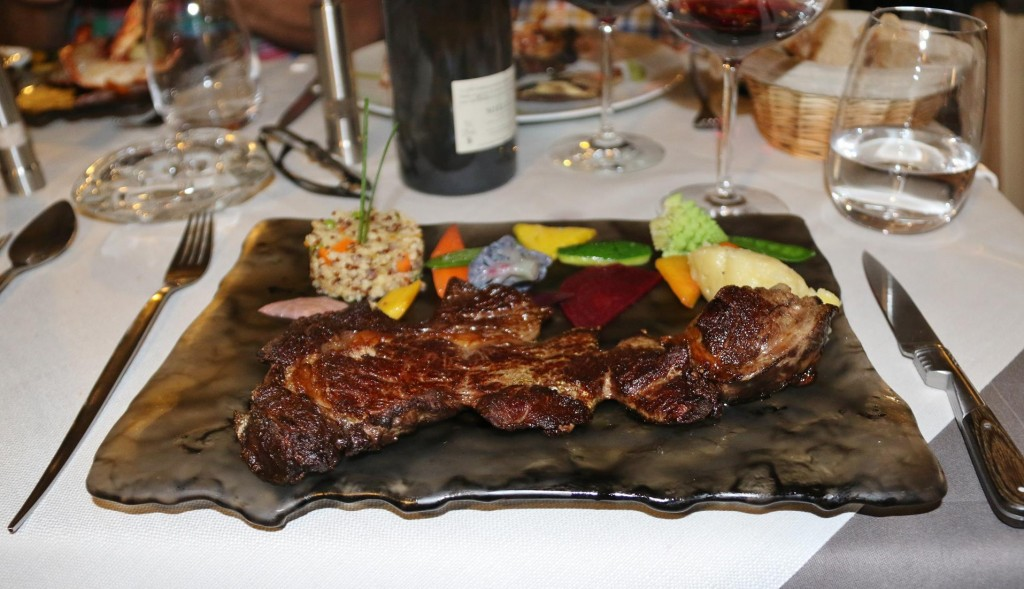 I chose the aged beef which was fabulous and was presented with some exquisite vegetables