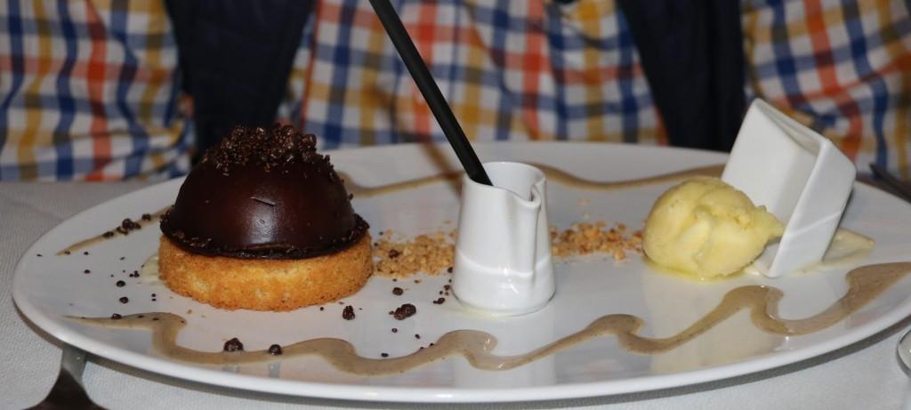 Ric enjoyed the fabulous chocolate dessert