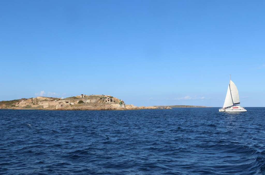 We continue across to Caprera Island and motor south and then north back to La Maddalena due to inaccessability between the 2 islands