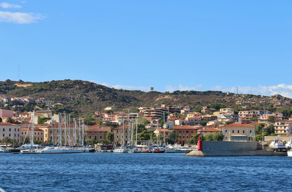 We enter the main port of La Maddalena Island