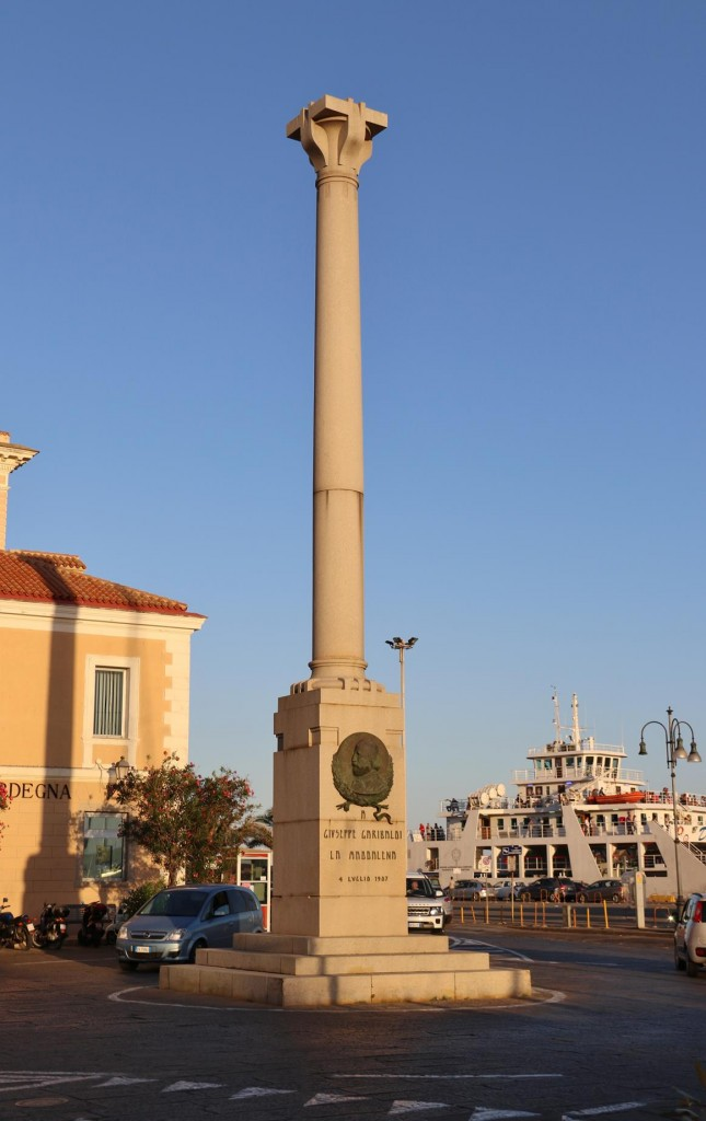 The prominent memorial monument close to our berth