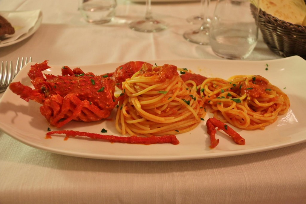 I had the fabulous lobster and spaghetti special