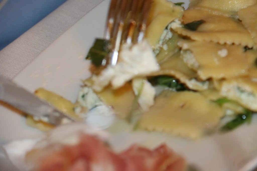 Followed by delicious raviolli for Rod