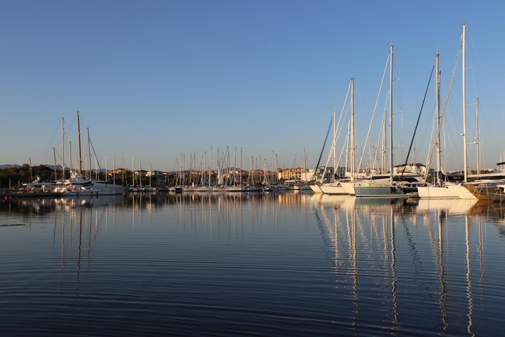 Beautiful clear and still conditions in Olbia this morning