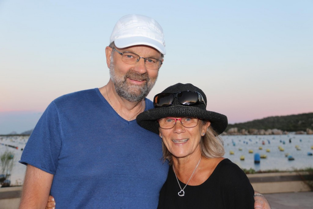 Hans and Lotta call past to say a final goodbye before they leave to drive around northern Sardina for a few days