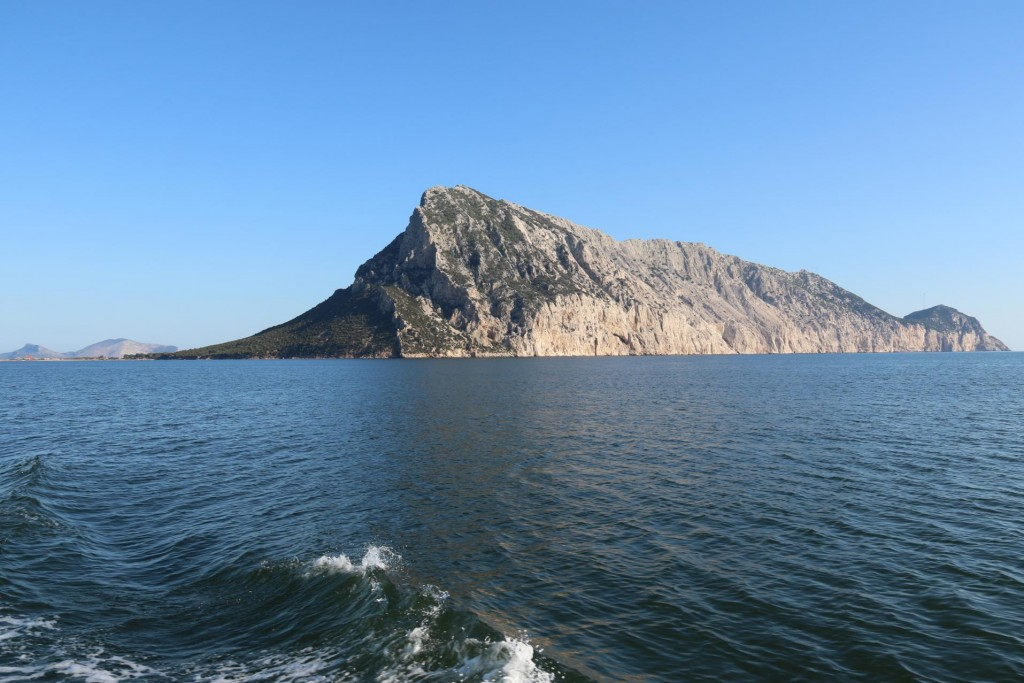 We pass Isola Tavolara which has a small anchorage on a narrow cape in the south west