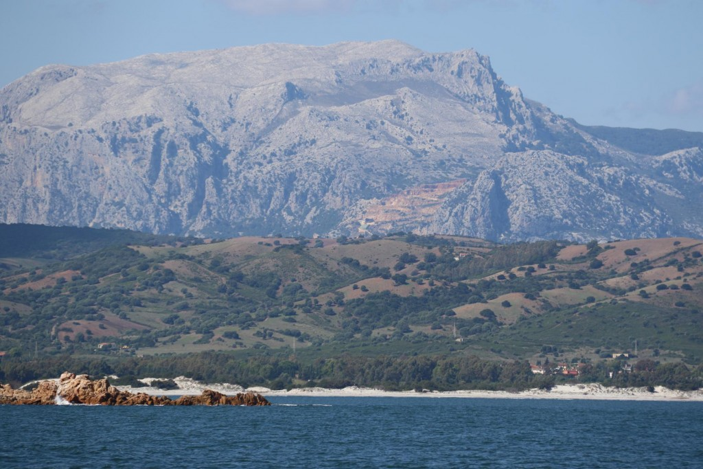 As we travel south down the north east coast of Sardinia we come across quite spectacular coastal scenery