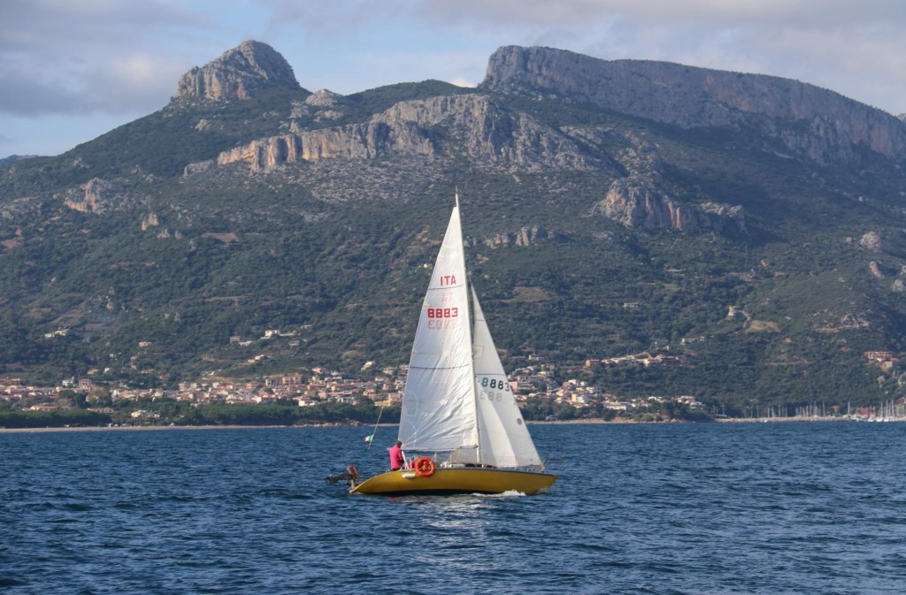 Sailing is quite popular in the large bay by Arbatax