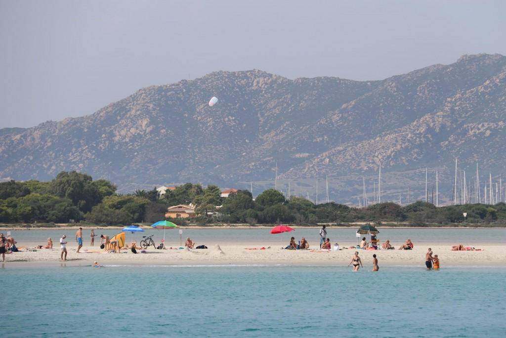 This is another popular beach with turquoise water in south east Sardinia