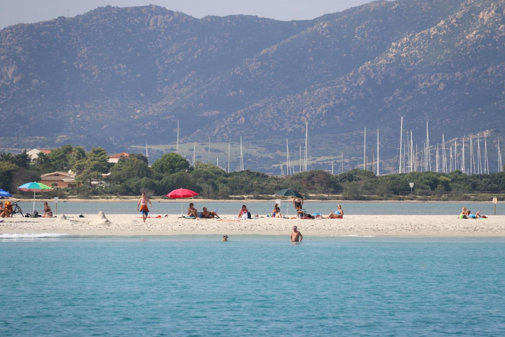 Behind the lagoon on the western side of the south east cape is the Villasimius marina