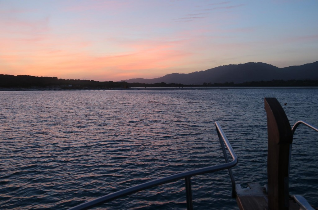 Our last evening on anchor in the Med this year