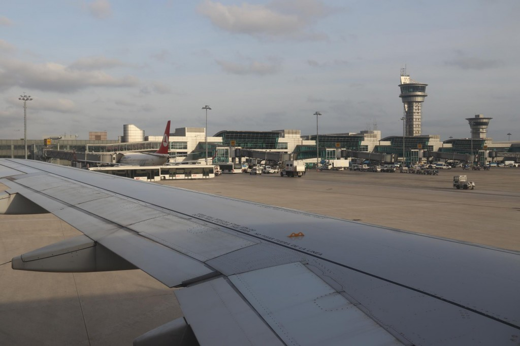 We depart  Istanbul by Iberian Airlines