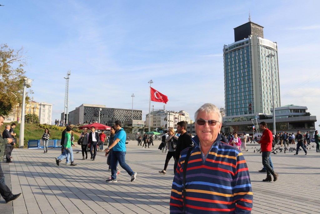 We set off for a walk to Taksim Square