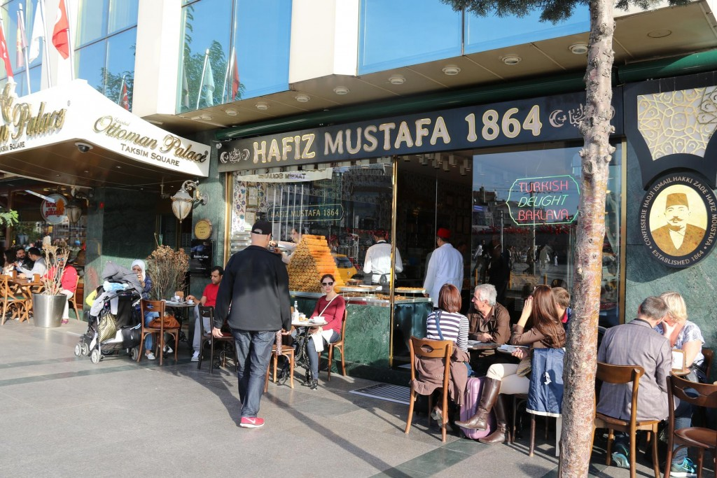 No shortage of coffee shops here