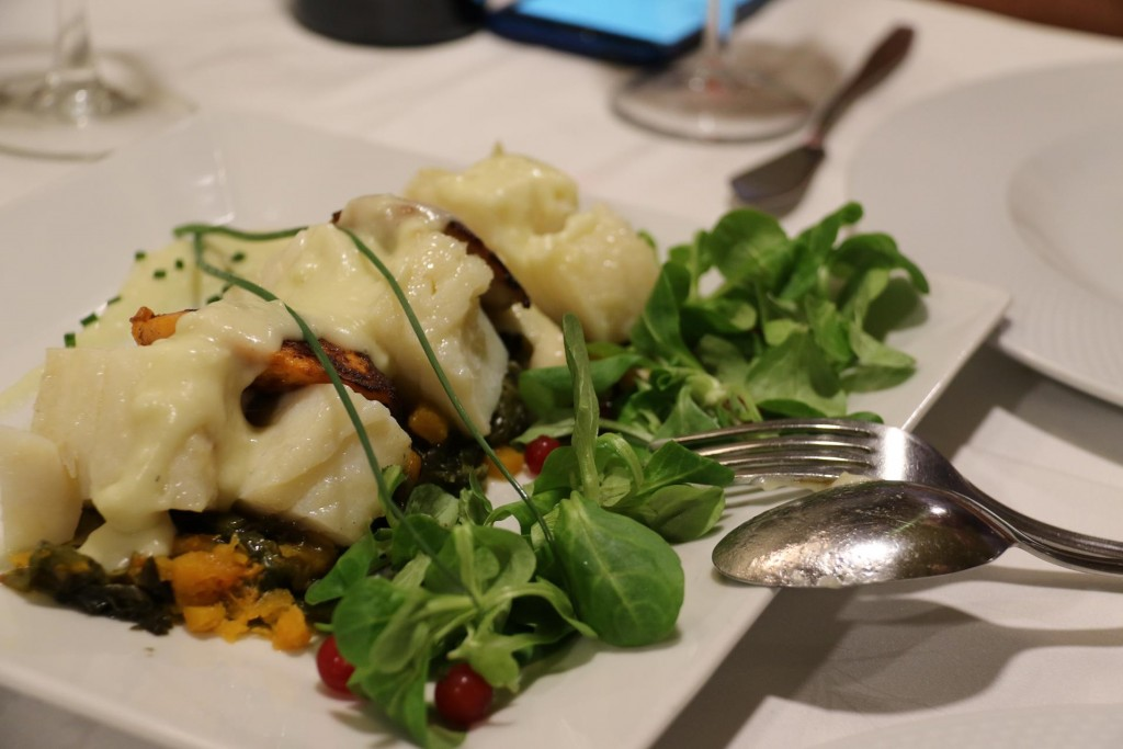 A delicious meat and vegetable dish for our main course