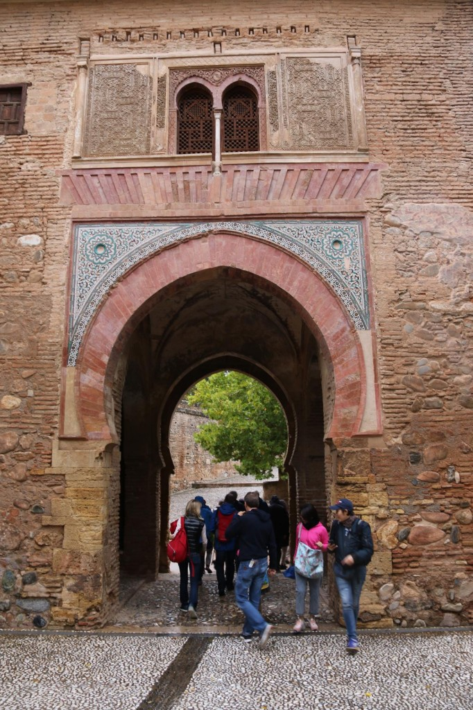 We pass through the Wine Gate where from 1554 tax free wine was sold inside the portal