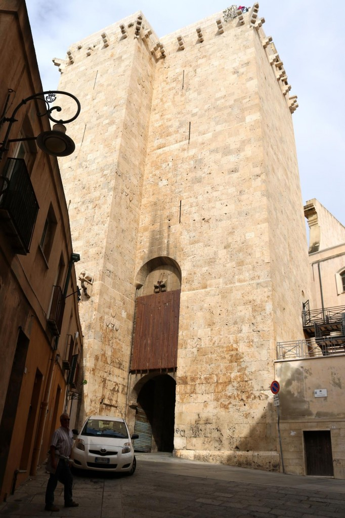 The Tower of the Elephant was built in the early 14th century and is only one of a couple of towers still remaining to guard the old city of Cagliari