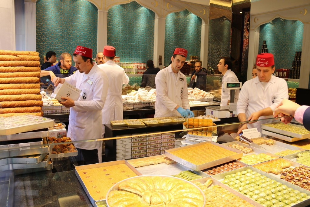 The Turkish bakeries with their large supplies 'Turkish Delights'