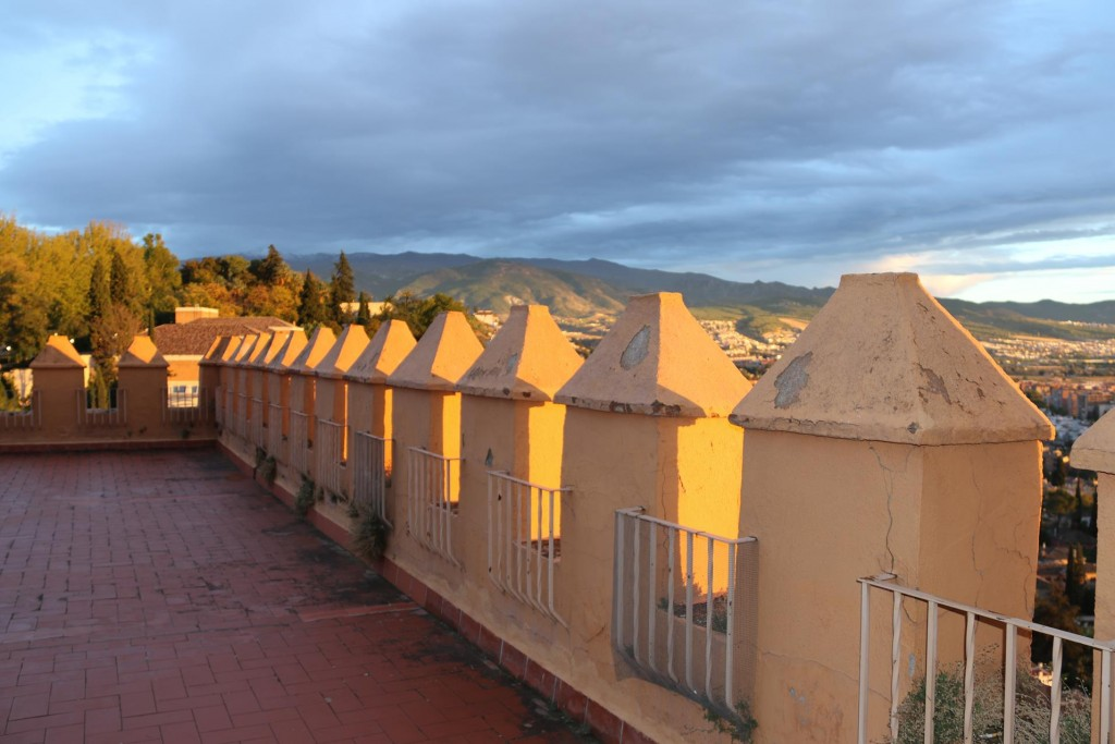 As the sun was setting over Granada the light over the town looked  amazing