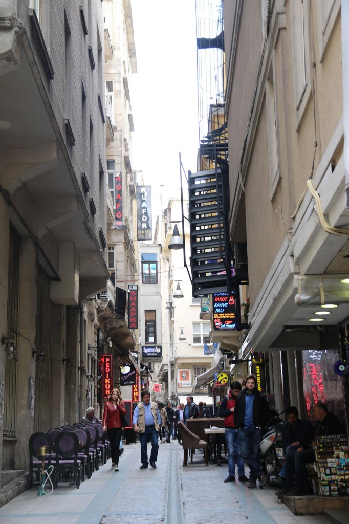 The small street off Istikal Caddesi where my hairdressing salon is situated