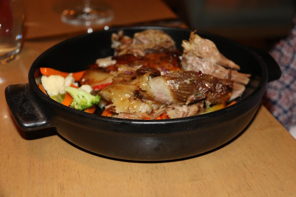 A generous portion of slow cooked lamb for Ric