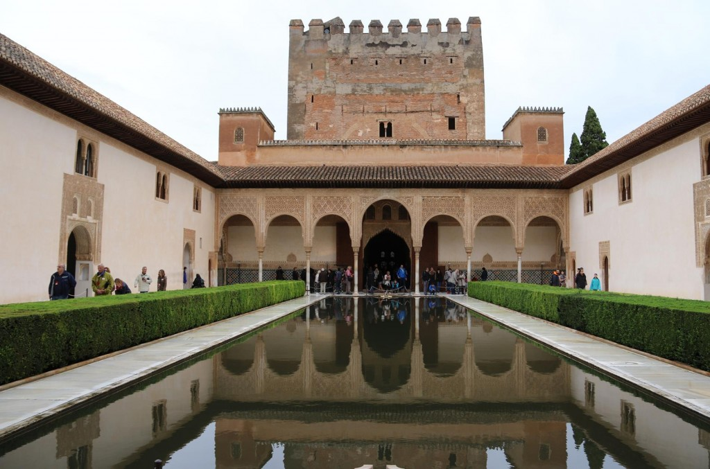 The Courtyard of the Myrtles with it's mirror of water