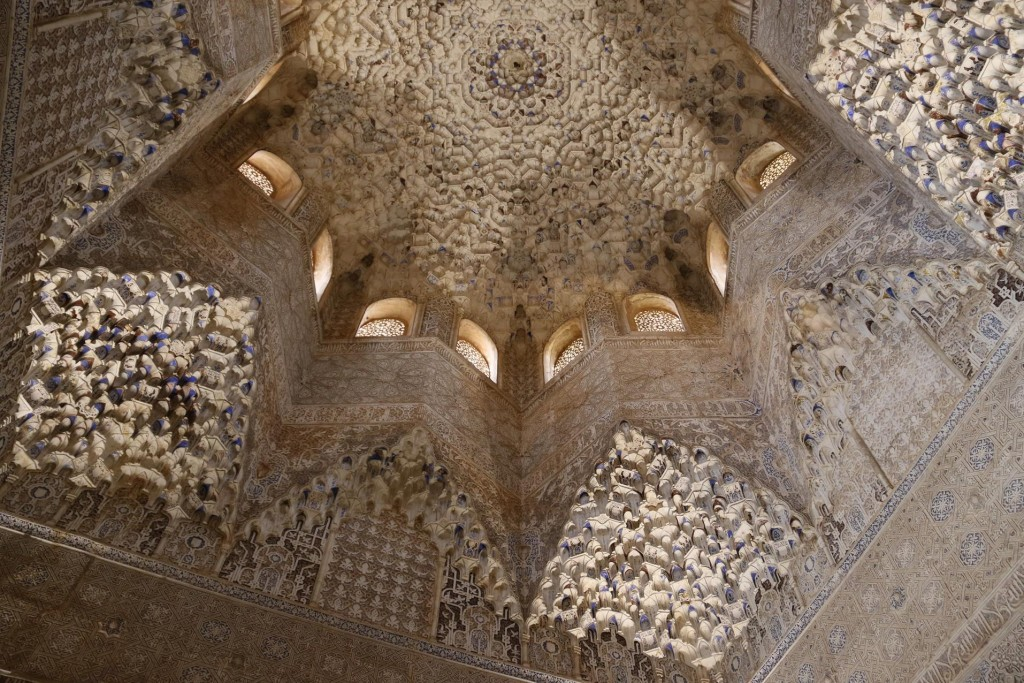 The amazing ceiling in the Hall of the Abencerrages