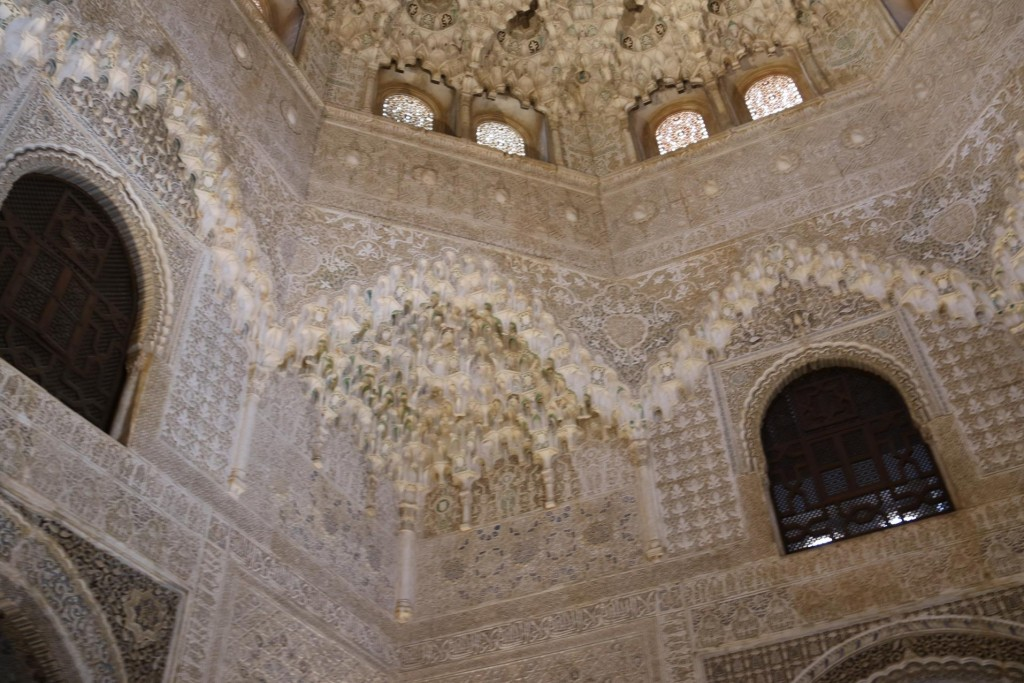 The Hall of Two Sisters is believed to be the oldest of all the rooms surrounding the Courtyard of the Lions
