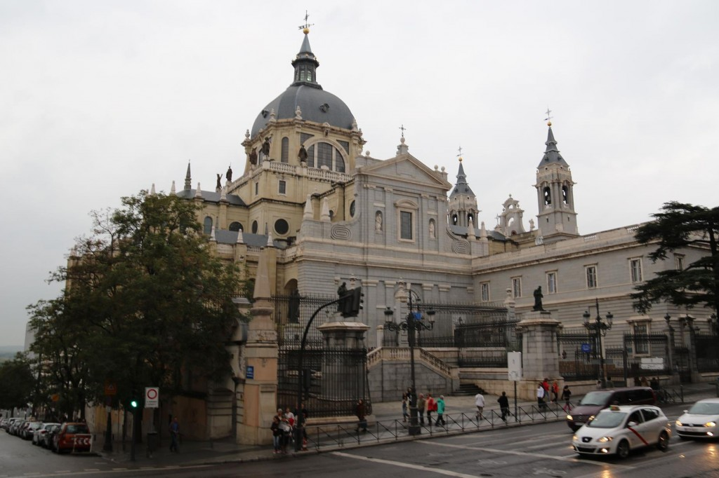 The Almudena Cathedral from the south east