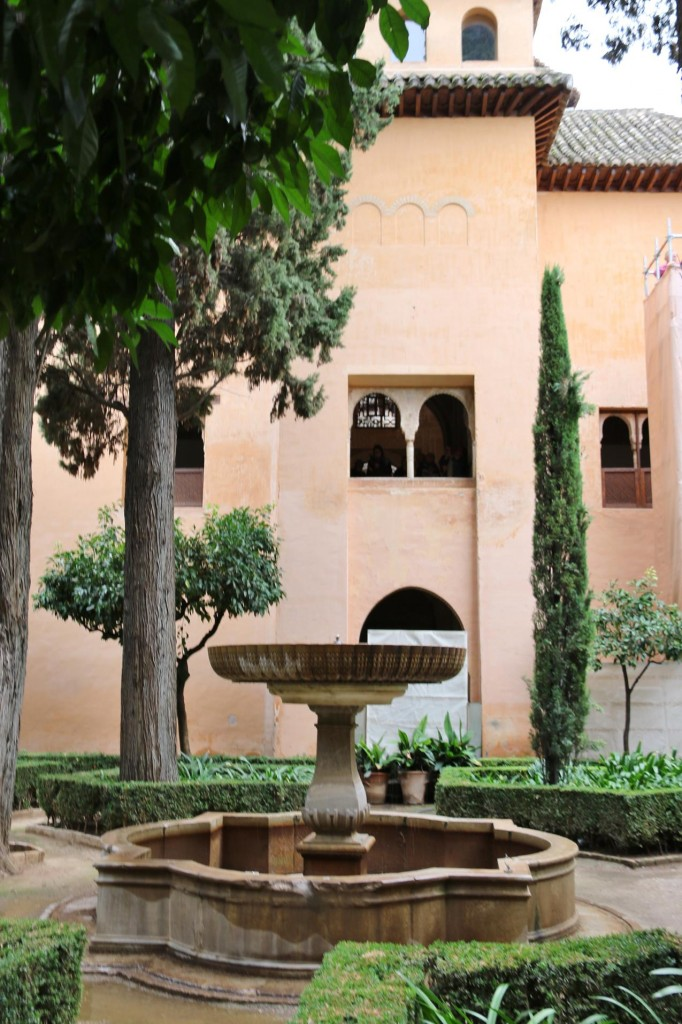The fountain of the Courtyard of the Grille