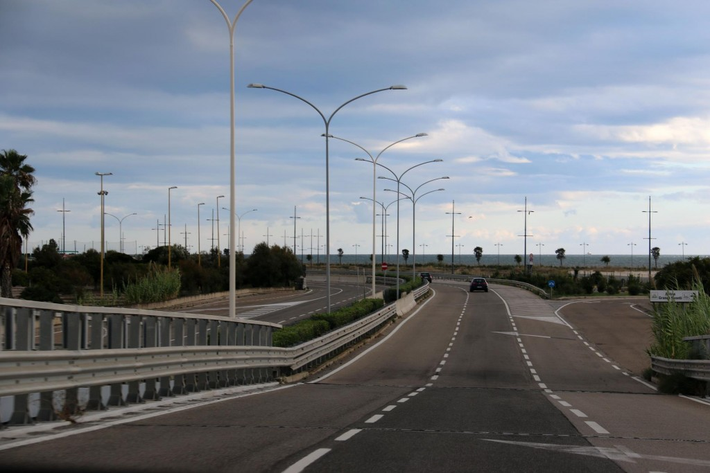 After a day of sightseeing in Cagliari we take the highway east along the coast