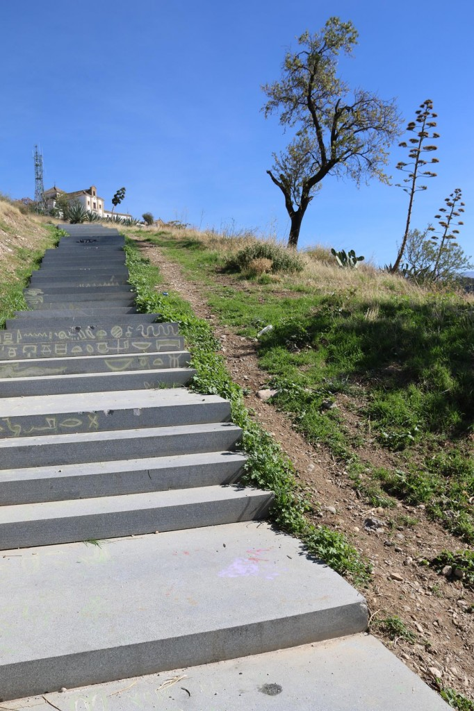 We decided to climb the many steps to the church on the hill