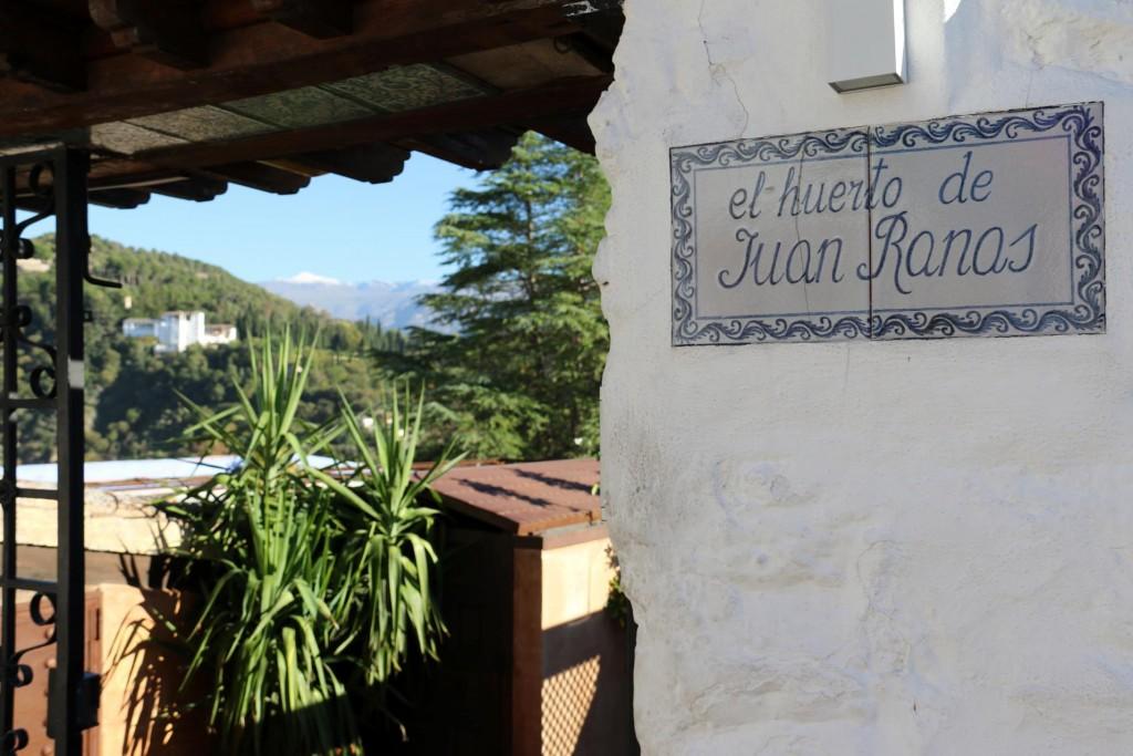 It was time for a nice leisurely lunch at 'El Huerto de Juan Ranas'