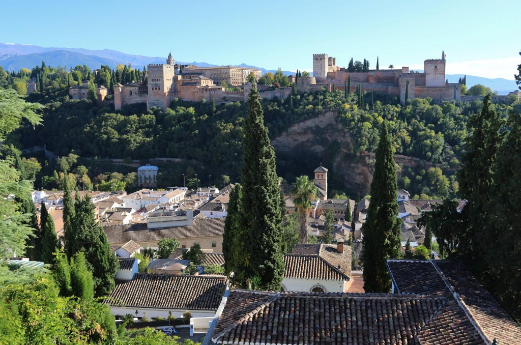The view of The Alhambra from the restaurant was the best we had seen