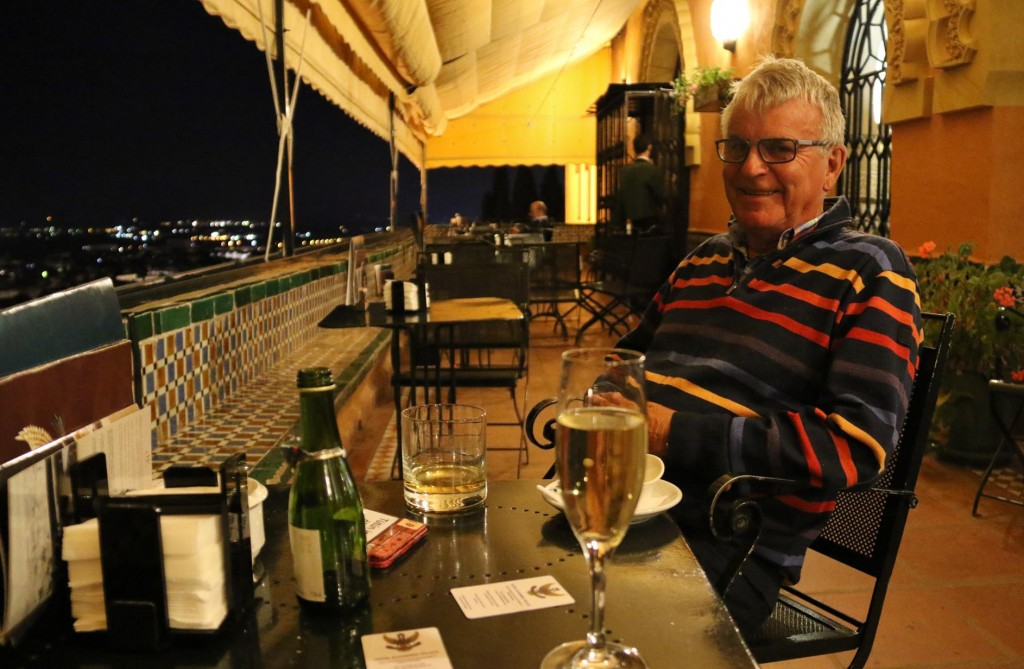 A refreshing drink in the bar was a perfect finish to last evening in Granada